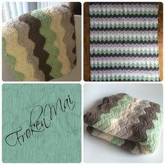 Hæklet Babytæppe - Baby blanket Crochet