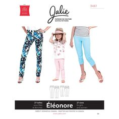 Jalie 3461 Eleonore -- Pull on Jeans pattern for women and girls. Stretch pull-on jeans. Sewing Patterns Girls, Clothing Patterns, Women's Clothing, Jodhpur, Stylish Jeans, Pull On Jeans, Patterned Jeans, Make Your Own Clothes, Patterns