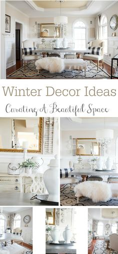 WINTER DECOR IDEAS FOR THE DINING ROOM- Let's talk about ways to decorate the rooms in our homes to give them a curated winter look.