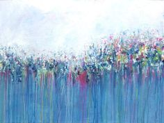 Abstract Painting Abstract flowers Giclee Print Fine by Artzaro
