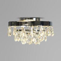 Plafón BACH cromo - Lámpara de techo acabada en cromo. Dispone de tres anillos con lágrimas colgantes que proporcionan una luz preciosa.