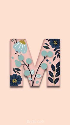 Monogram Wallpaper, Alphabet Wallpaper, Cute Emoji Wallpaper, Flower Phone Wallpaper, Pastel Wallpaper, Tumblr Wallpaper, Wallpaper Backgrounds, Aesthetic Iphone Wallpaper, Aesthetic Wallpapers