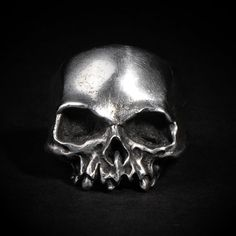 Hollow Death Skull Ring, etsy