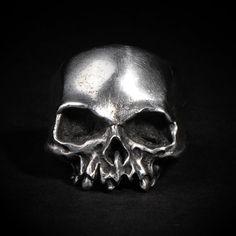 Hollow Death Skull Ring, etsy