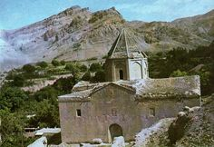 medieval armenian cemetery and St. Christafor  church, XV century, Historical Armenian province Nakhchevan, at present time this church in all probability ruined by azerbaijanina vandals
