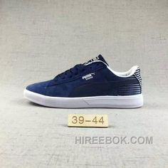 Puma Men Leisure Sneaker Md Outsole Pig Leather Navy Blue Lastest c509764ab