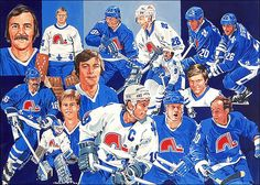 Les Nordiques I hated them, until they became the Avalanche. Can you imagine if the Habs had traded Roy to this franchise had they stayed in Quebec? Hockey Rules, Hockey Teams, Ice Hockey, Quebec Nordiques, Sports Art, Sports Logos, Edmonton Oilers, Montreal Canadiens, Team Photos