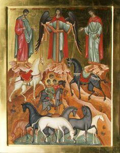 Saints Laurus and Florus - Aidan Hart Sacred Icons Catholic Art, Catholic Saints, Religious Icons, Religious Art, Greek Icons, Paint Icon, Russian Icons, Best Icons, Byzantine Art