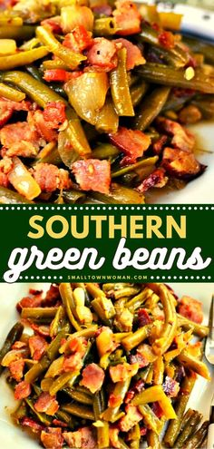 23 reviews · 2 hours · Serves 6 · The entire family is going to love these Southern Green Beans! It's the best vegetable side dish which has the perfect combination of tender, melt-in-your-mouth green beans, crisp bacon, onion, and… Side Dishes Easy, Vegetable Side Dishes, Vegetable Recipes, Green Beans With Bacon, Garlic Green Beans, Southern Style Green Beans, Green Bean Recipes, Smoked Bacon, Dinner Dishes