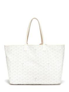 GOYARD: White Monogram St. Louis PM Tote Bag