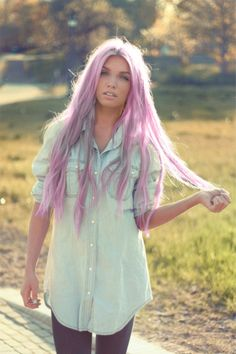Long Lilac Hair