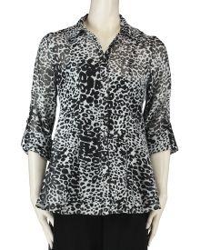 79db170cc60 Mishca Burnout Leopard Print Button Front Tunic For Less, Branding Design,  Tunic, Buttons