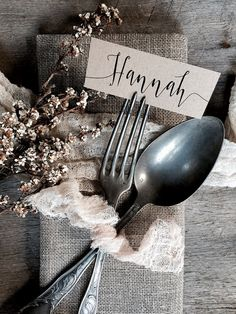Wedding Place Cards Place Cards Name Tag Wedding Name Tags Name Place Cards, Place Names, Name Cards, Wedding Place Settings, Wedding Place Cards, Handmade Wedding, Rustic Wedding, Wedding Ideas, Forest Wedding