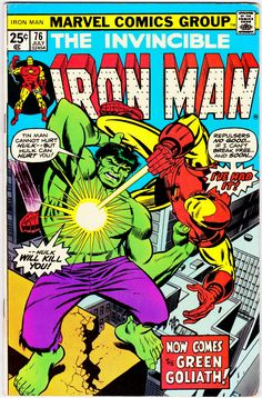 Iron Man Series July 1975 Marvel Comics Grade F/VF You are in the right place about Comic Book artists Here we offer you the most beautiful pictures about the Comic Book marvel you are Heroes Dc Comics, Marvel Comics Superheroes, Marvel Comic Books, Fun Comics, Comic Books Art, Comic Book Artists, Comic Book Characters, Marvel Characters, Comic Artist