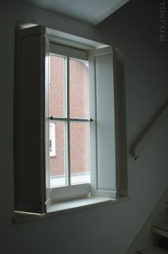 Window view by the stairs