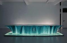 Danny Lane. Glass artist. - Hourglass