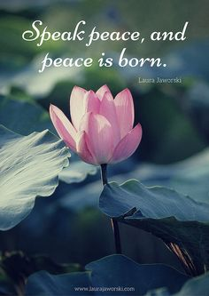 Speak Peace 💖 | www.laurajaworski.com