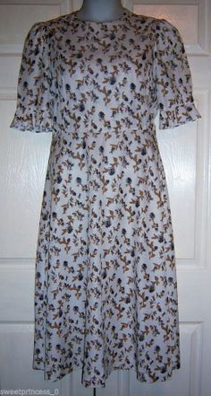 "Amish Mennonite Womens Handmade Modest Cape Dress 40""Bust/32""Waist"