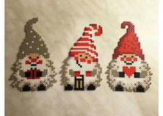 See GrossstadtKind's photo titled Christmas Gnomes with Ironclad … – Cross stitch/ Sticken – Hama Beads Hama Beads Design, Hama Beads Patterns, Beading Patterns, Christmas Gnome, Christmas Cross, Xmas, Beaded Cross Stitch, Cross Stitch Patterns, Quilt Patterns