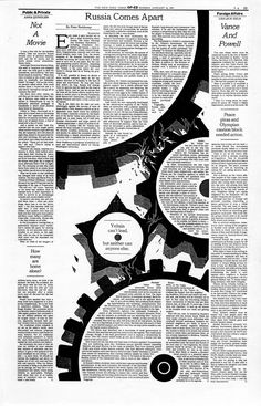 My design for the New York Times op-ed pages. January, 1993.