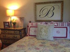Perfect! Just a simple monogram with a frame around it. #uppercaseliving
