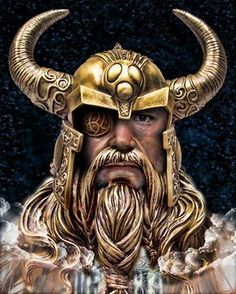 - Odin Also Called Allfader -. - Odin Also Called Allfader -: The Vikings were fearless seafarers ~ Their aim was, assaults and battle . Art Viking, Viking Warrior, Viking Age, Warrior Tattoos, Viking Tattoos, Fenrir Tattoo, Viking Culture, Nordic Tattoo, Old Norse
