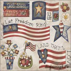 Freedom Rings 1 Clip Art Set
