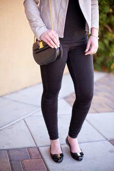 {Black-Spring-Summer-Basics-TopShop-Nordstrom-Ferragamo-Flats-Leather Jacket-Style-Fashion-Blogger-Blog-Style Blogger-Fashion Blog}