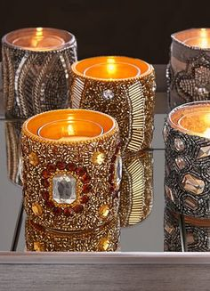 embellished votive holders http://rstyle.me/n/uczkepdpe