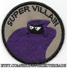 Super Villain Geek Merit Badge Patch by StoriedThreads on Etsy