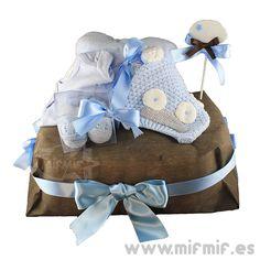 "Tarta de Pañales ""Chocolat-Blue Cake"" disponible en http://www.mifmif.es"