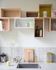 New Kitchen Shelves Minimalist Dining Rooms Ideas Kitchen Interior, New Kitchen, Interior Design Living Room, Kitchen Dining, Kitchen White, Dining Rooms, Casa Milano, Sweet Home, Design Room