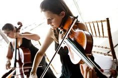 united with love - real wedding - carrie & matt - musicians - violinist & cellist