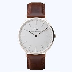 Daniel WEllington brown leather band watch