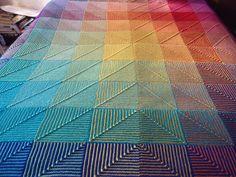 Ravelry: MirandaLou's Rainbow Hue Shift Afghan