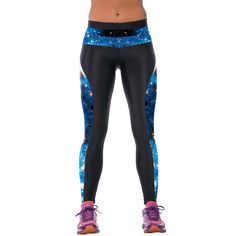 Closer-to-U New Girls Fl Leaves Print High Waist Fitness Leggings Trousers
