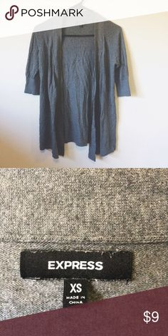 Express Grey Short Sleeve Open Cardigan Pre loved but still in good condition! Express Sweaters Cardigans