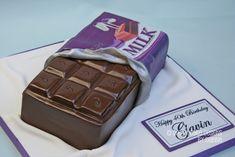 DAIRY MILK CHOCOLATE BAR Dairy Milk Chocolate, Designer Cakes, Unique Cakes, Novelty Cakes, Cake Designs, Bar, Desserts, Food, Tailgate Desserts