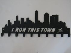 I Run This Town Medal Display Medal Hanger by SportHooks on Etsy, $63.95