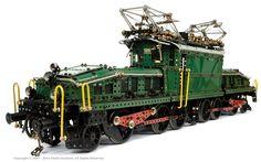 "Swiss  ""Krokodil"" early electric locomotive Meccano model by Roberto Piazzoli"