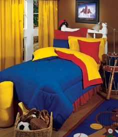 Could use this bedding for Lego boys room.