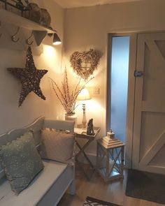 big end of a busy day lit candles and feet up christmasdecor candleslit hyggehome homesandinteri Hallway Decorating, Entryway Decor, Cottage Hallway, Home Design, Interior Design, Decoration Entree, Cottage Interiors, Country Decor, Modern Country Style