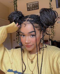 Cute Box Braids Hairstyles, Black Girl Braided Hairstyles, Baddie Hairstyles, Girl Hairstyles, Protective Hairstyles, Curly Hair Styles, Natural Hair Styles, Curly Hair Dye, Box Braids Styling