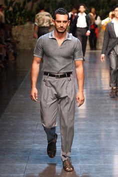 Love the 50's inspired shirt.    Dolce & Gabbana - Spring 2013