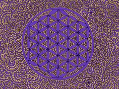 Kpdesign dm floweroflife purplegold