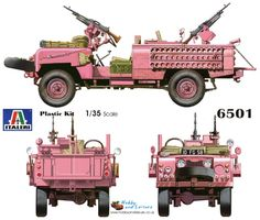 Italeri 6501 1/35 SAS Land Rover Pink Panther Plastic kit # 6501 at Hobby and Leisure