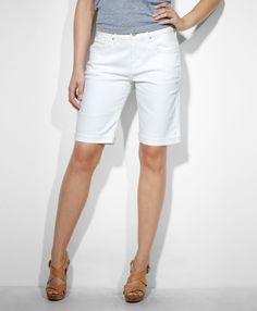 Celebrity Pink Jeans - Denim White Wash Bermuda Shorts   Shop it ...