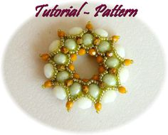 Beading pattern of beaded pendant Agnella, PDF instructions, tutorial for beading step by step