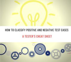 Positive and Negative Test Scenario Classification - A Tester's Cheat Sheet. Let's take one simple example today to explain the process which will help to clarify the concept.