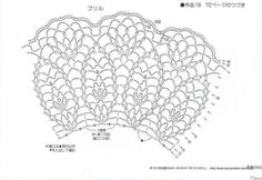 Very beautiful crochet edging - scheme. Discussion on LiveInternet - Russian Service Online Diaries Col Crochet, Crochet Lace Collar, Crochet Cape, Crochet Lace Edging, Crochet Skirts, Crochet Borders, Crochet Diagram, Crochet Shawl, Crochet Stitches